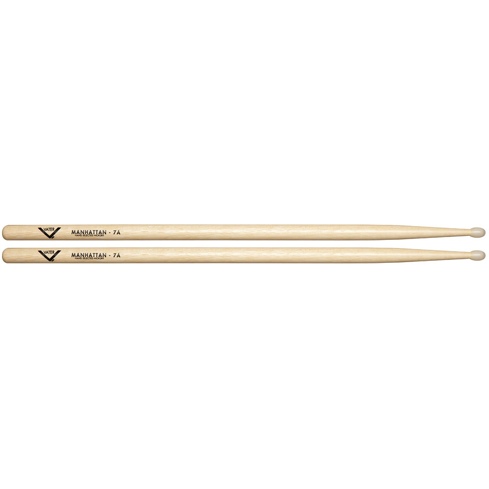 vater american hickory manhattan 7a nylon drumsticks. Black Bedroom Furniture Sets. Home Design Ideas