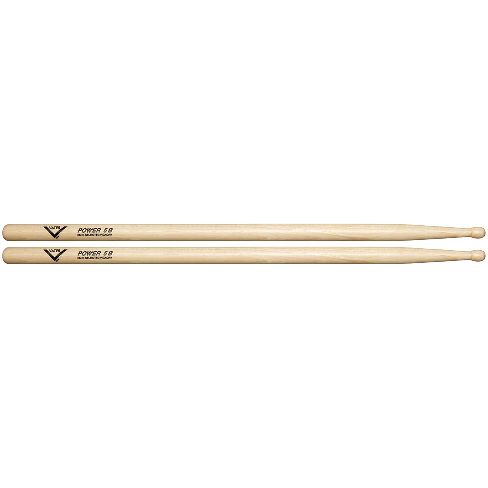 vater american hickory power 5b wood drumsticks. Black Bedroom Furniture Sets. Home Design Ideas