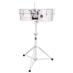 Latin Percussion Tito Puente LP272-S Timbalitos Stainless Steel « Timbales