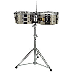 Latin Percussion Tito Puente LP256-S Stainless Steel « Timbales