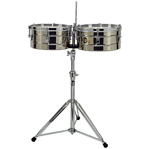 Timbales Latin Percussion Tito Puente LP257-S Stainless Steel
