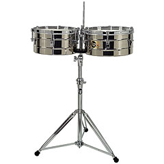 Latin Percussion Tito Puente LP257-S Stainless Steel « Timbales