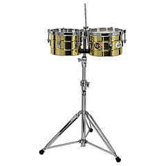Latin Percussion Tito Puente LP272-B Timbalitos Solid Brass « Timbales