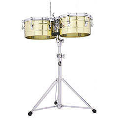 "Latin Percussion Tito Puente 13"" & 14"" Timbales, Solid Brass « Timbales"