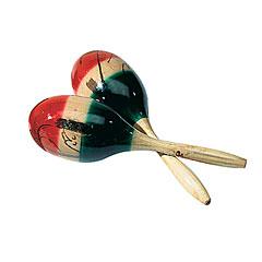 Sonor Mexican Style Wood Maracas Pair