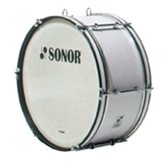 "Sonor B Line 24"" x 10"" Marching Bass Drum white « Große Trommel"