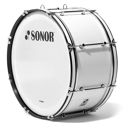 """Sonor B Line Series 26"""" x 12"""" Marching Bass Drum White"""