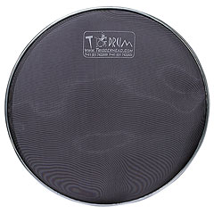 "TDrum 18"" Black Tom Mesh Head « Peau de trigger"