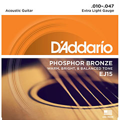 D'Addario EJ15 .010-047 « Western & Resonator Guitar Strings