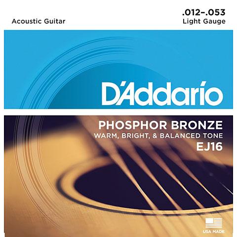 Corde guitare folk D'Addario EJ16 .012-053