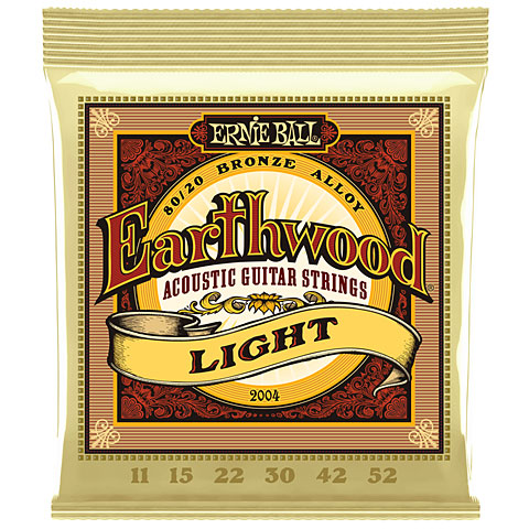 Saiten Westerngitarre Ernie Ball Earthwood Light 80/20 Bronze 2004 .011-052
