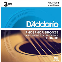 D'Addario EJ16-3D .012-053 « Western & Resonator Guitar Strings