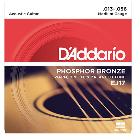 Corde guitare folk D'Addario EJ17 .013-056