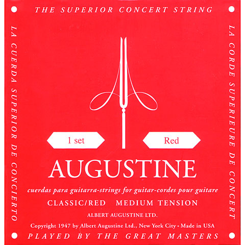 Classical Guitar Strings Augustine Classic Red