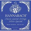 Set di corde per chitarra classica Hannabach 815 HT Silver Special Blue