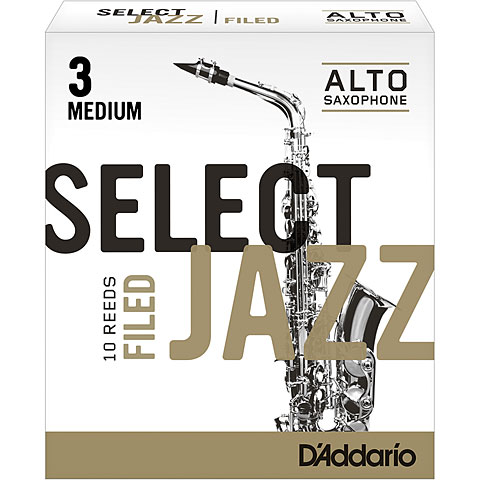 D'Addario Select Jazz Filed Alto Sax 3M