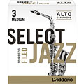 D'Addario Select Jazz Filed Alto Sax 3M « Anches