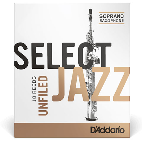 Blätter D'Addario Select Jazz Unfiled Soprano Sax 4M