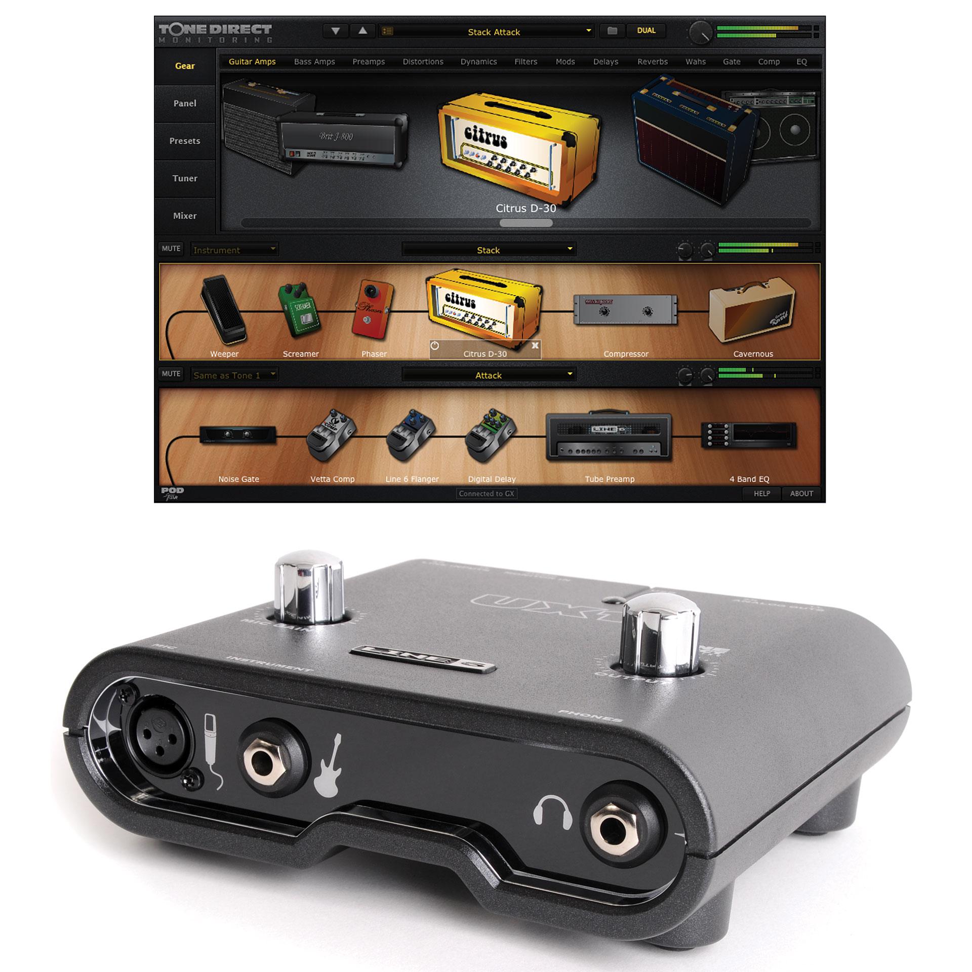 line 6 pod studio ux 1 recording tool musik produktiv. Black Bedroom Furniture Sets. Home Design Ideas