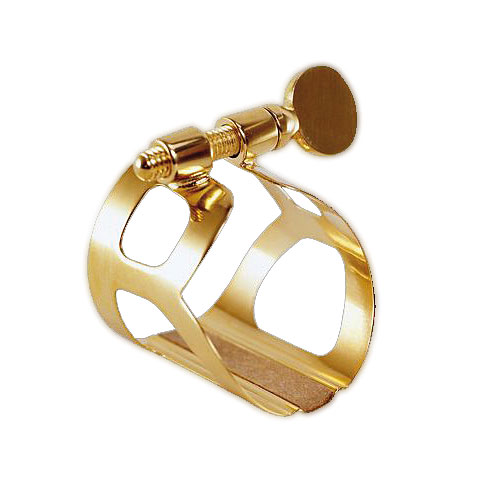 Rietenbinder BG Tradition Ligature. 24k Gold plated-L81