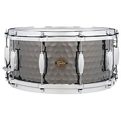 "Gretsch Drums Full Range 14"" x 6,5"" Hammered Black Steel Snare « Caisse claire"