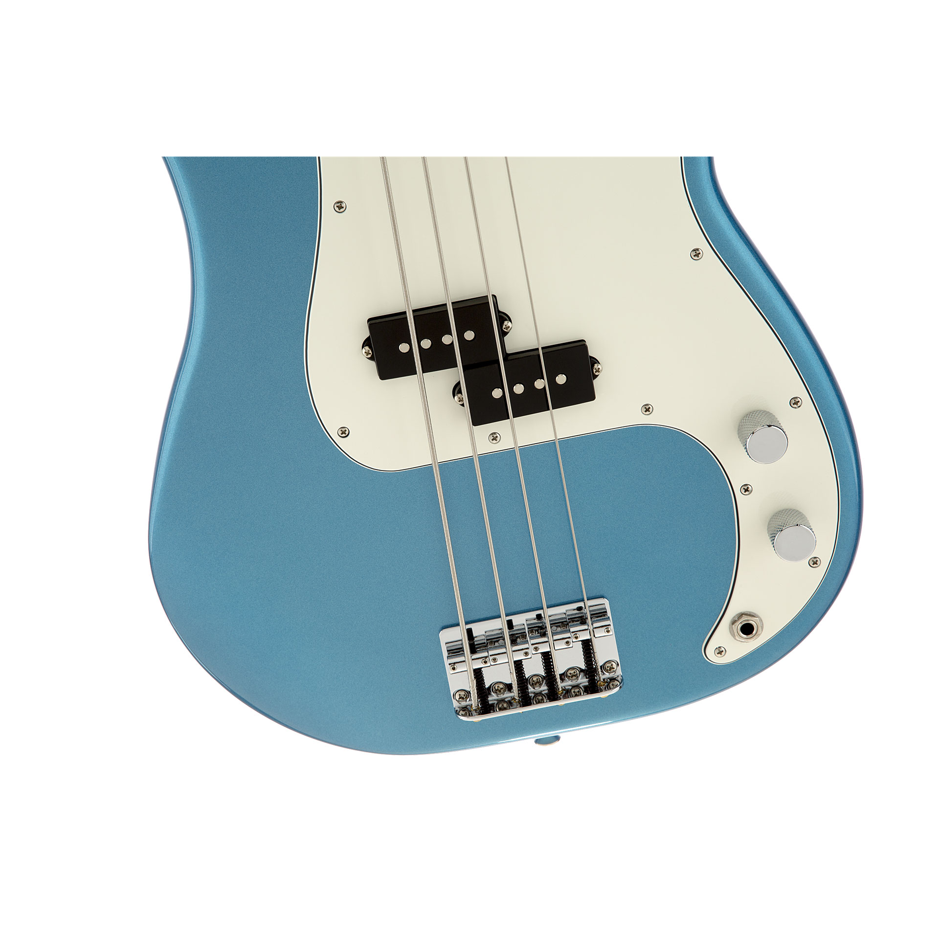Electric Bass Guitar Fender Standard Precision MN Lake Placid Blue 2