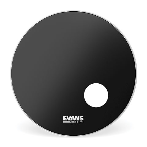 """Bass-Drum-Fell Evans Onyx 24"""" Bass Drum Head with Port"""
