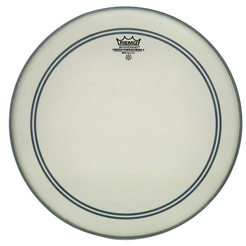 "Bass-Drum-Fell Remo Powerstroke 3 Coated 23"" Bass Drum Head P3-1123-C2"
