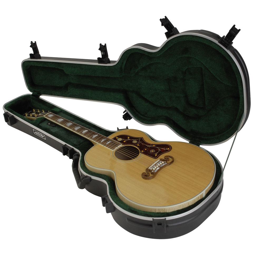 Skb 20 universal jumbo acoustic deluxe guitar case for Housse guitare folk