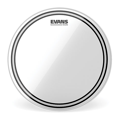 "Evans Edge Control EC2S Clear 15"" Tom Head"