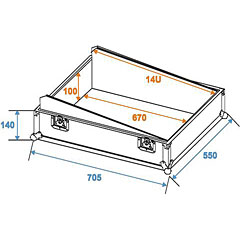 Roadinger Mixer Case Pro MCB-19, 14U