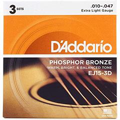 D'Addario EJ15-3D .010-047 « Western & Resonator Guitar Strings