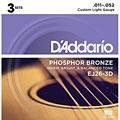 Cuerdas guitarra acúst. D'Addario EJ26-3D .011-052