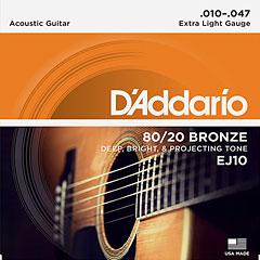 D'Addario EJ10 .010-047 « Corde guitare folk