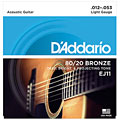 Cuerdas guitarra acúst. D'Addario EJ11 .012-053
