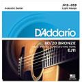 Set di corde per chitarra western e resonator D'Addario EJ11 .012-053