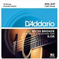 Cuerdas guitarra acúst. D'Addario EJ36 .010-047