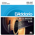 Western & Resonator Guitar Strings D'Addario EJ36 .010-047