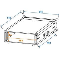 Roadinger Amp Rack PR-1, 2U