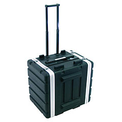 Roadinger Plastic-Rack 19, 7U, DD/trolley, black « Rack de 19 pulgadas