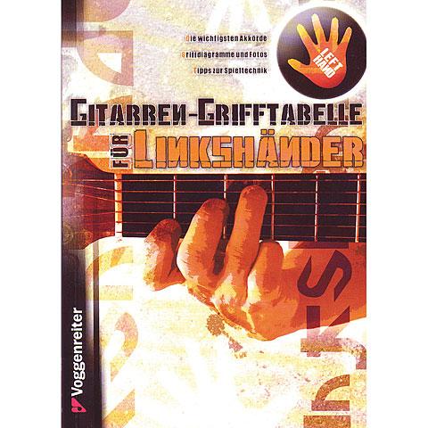 Lehrbuch Voggenreiter Gitarren-Grifftabelle für Linkshänder