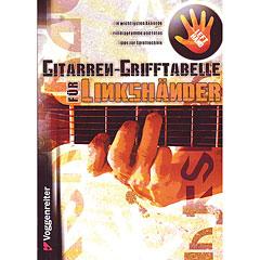 Voggenreiter Gitarren-Grifftabelle für Linkshänder « Libros didácticos