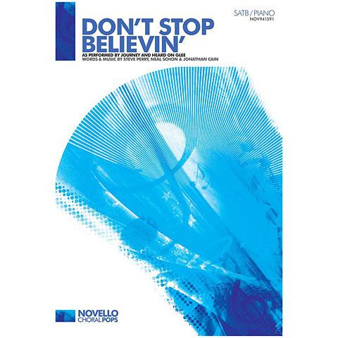 Notas para coros Novello Don't Stop Believin'