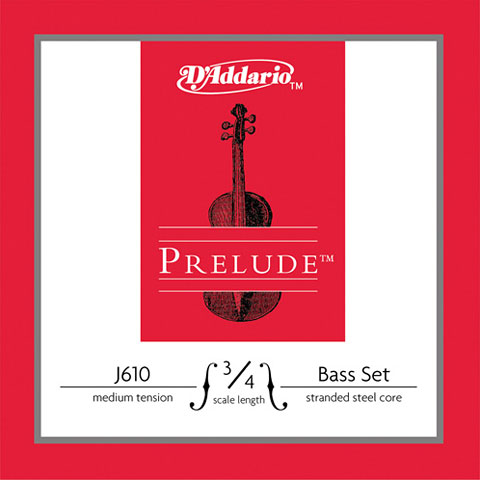 Cuerdas instr. arco D'Addario J610 3/4M Prelude