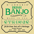 Snaren Tokkelinstr. D'Addario J63i Irish Banjo