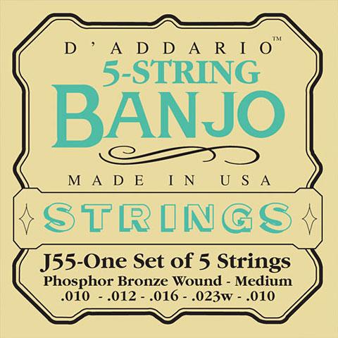 Cordes pour instrument à corde D'Addario J55 5-String Banjo
