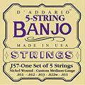 Snaren Tokkelinstr. D'Addario J57 5-String Banjo