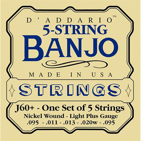 Cuerdas D'Addario J60+ 5-String Banjo