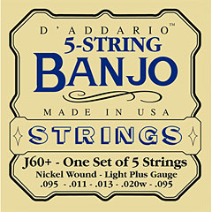 D'Addario J60+ 5-String Banjo « Saiten Zupfinstrument