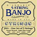 D'Addario J60+ 5-String Banjo « Cuerdas